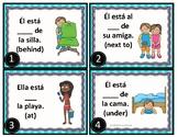 Spanish Prepositions of Place Task Cards: Preposiciones de lugar