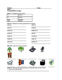 Spanish Prepositions of Place Worksheet