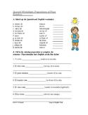 Spanish Prepositions of Place Worksheet: Preposiciones de lugar (dentro, cerca)