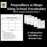 Spanish Prepositions w/School Vocabulary