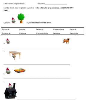 Spanish Prepositions with Estar Las preposiciones con estar