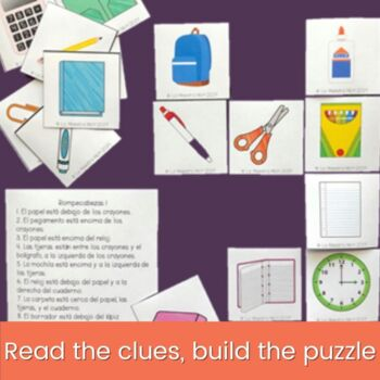 Spanish Prepositions with Estar Puzzle Activitiy