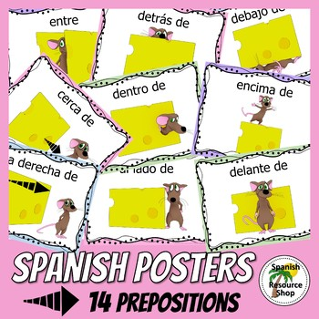 Spanish Prepositions with Pepe Posters