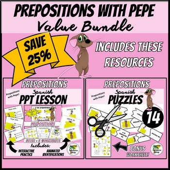 Spanish Prepositions with Pepe Value Bundle