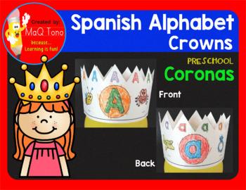 Spanish Preschool Alphabet Crowns