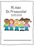 Spanish Preschool Back to School; Monthly Portfolio