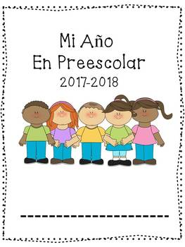 Spanish Preschool Back to School; Monthly Portfolio