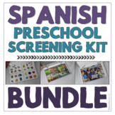 Spanish Preschool Speech & Language Screening Kit - No Print & Flip Book