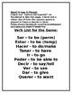Spanish - Present IRREGULAR Verbs Conjugation Spoons Game w/ Post-Assessment