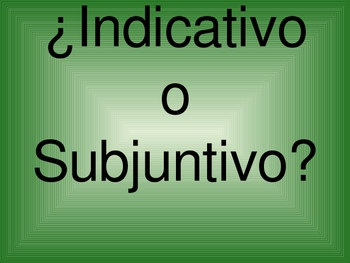 Spanish Present Indicative vs. Subjunctive Board  Race Game PowerPoint