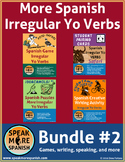 Spanish Present Irregular Yo Verbs BUNDLE #2.  Presente de