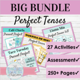 Spanish Present Perfect and Past Perfect Activity BUNDLE |