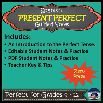 Spanish Present Perfect - Guided Notes and Key