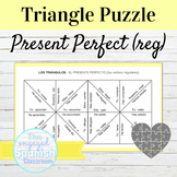 Spanish Present Perfect Tense Regular Verbs Conjugation Puzzle