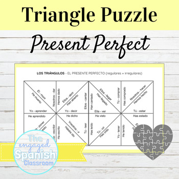 Spanish Present Perfect Indicative Puzzle: Reg + Irreg (El