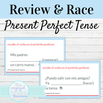 Spanish Present Perfect Indicative Word Race Activity