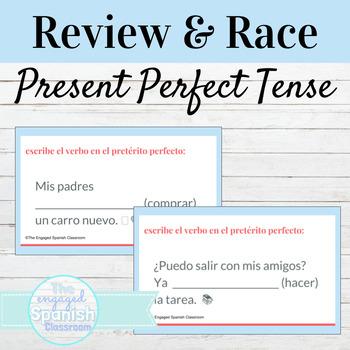 Spanish Present Perfect Indicative Word Race Activity / El