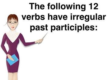Spanish Present Perfect Irregular Past Participles PowerPoint Slideshow
