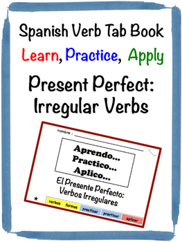 Spanish Present Perfect (Irregular) Tab Book