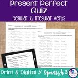 Spanish Present Perfect Regular & Irregular Verbs Quiz