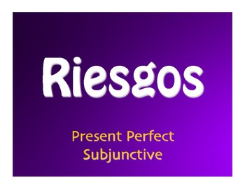 Spanish Present Perfect Subjunctive Jeopardy-Style Review Game