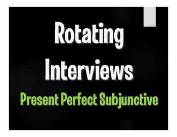 Spanish Present Perfect Subjunctive Rotating Interviews