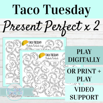 Spanish Present Perfect Tense TACO TUESDAY Conjugation Games (x2)