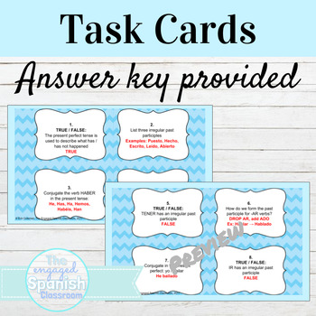 Spanish Present Perfect Tense Task Cards