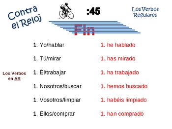 Spanish Present Perfect Writing Activity, Powerpoint