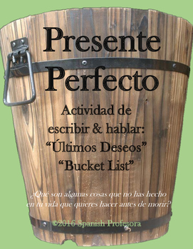 Spanish Present Perfect Writing & Speaking Bucket List
