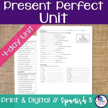 Spanish Present Perfect Bundle