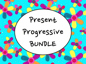 Spanish Present Progressive BUNDLE- PowerPoint, Worksheets Pack, Keynote