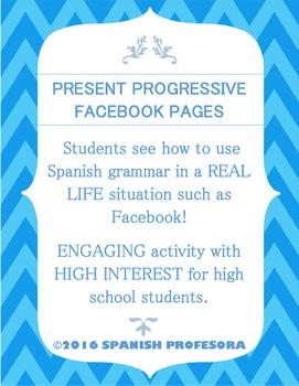 Spanish Present Progressive Facebook Practice