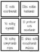 Spanish Present Progressive Go Fish/Memory Game