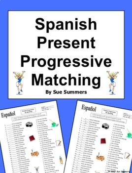 Spanish Present Progressive Matching and Image IDs