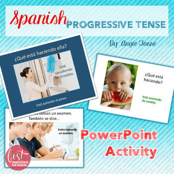 Spanish Present Progressive PowerPoint Activity and Competition