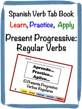 Spanish Present Progressive (Regular) Tab Book