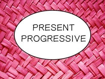 Spanish Present Progressive Tense Keynote Slideshow Presen