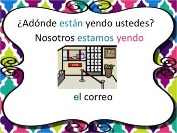 Spanish Present Progressive Ir Powerpoint & Notes