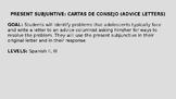 Spanish Present Subjunctive - Cartas de consejo (Advice Letters)