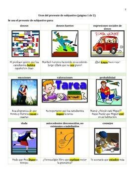 Spanish Present Subjunctive Conjugation Practice Booklet