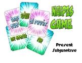 Spanish Present Subjunctive Naipes Game