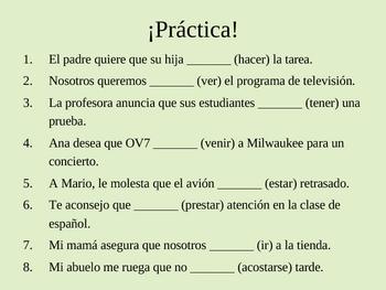 Spanish Present Subjunctive PPT