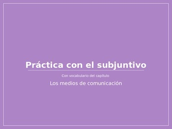 Spanish Present Subjunctive PowerPoint Practice Activity