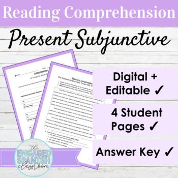 Spanish Present Subjunctive Reading Comprehension : el presente del subjuntivo