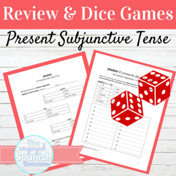 Spanish Present Subjunctive: Review and Dice Games for Reg