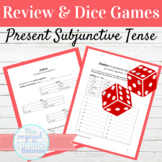 Spanish Present Subjunctive Review and Dice Games