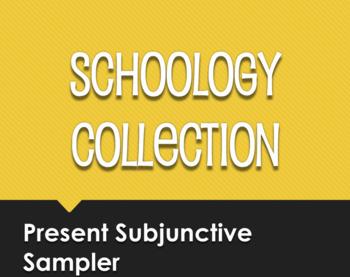 Spanish Present Subjunctive Schoology Collection Sampler