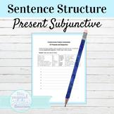 Spanish Present Subjunctive Tense Sentence Building Worksheet