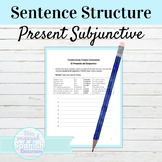 Spanish Present Subjunctive Tense Sentence Building Worksheet